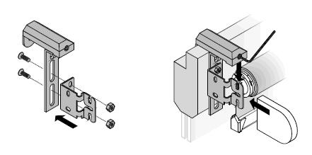 Klemmträger für Rollo Montage an Kunststoff Fenstern