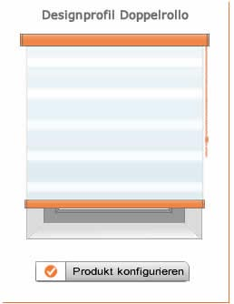 Designprofil Doppelrollo