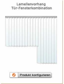 Lamellenvorhang für Giebelfenster