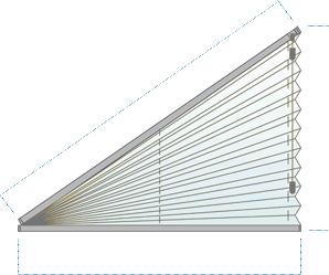 Plissee Dreieck Cosiflor FD Slope 3