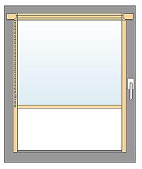 Halbkassettennrollo zur Glasleistenmontage
