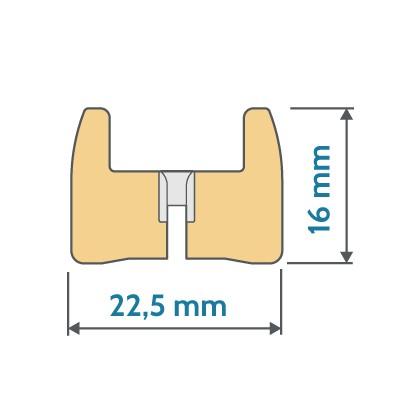 Decomatic Plissee Profil-Endkappen