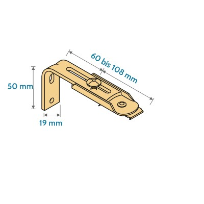 Lamellenvorhang Wandwinkel 60-108 mm
