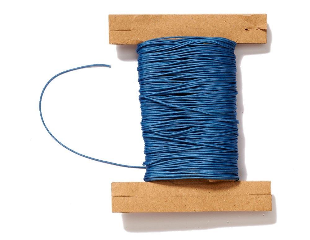 Plissee Schnur blau