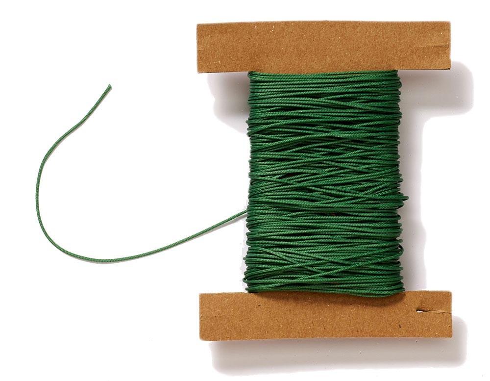 Plissee Schnur grün