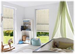 Kinderzimmer Plissee Weiß