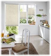 Küchen Plissee Weiß