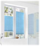 Sichtschutz Plissee Blau