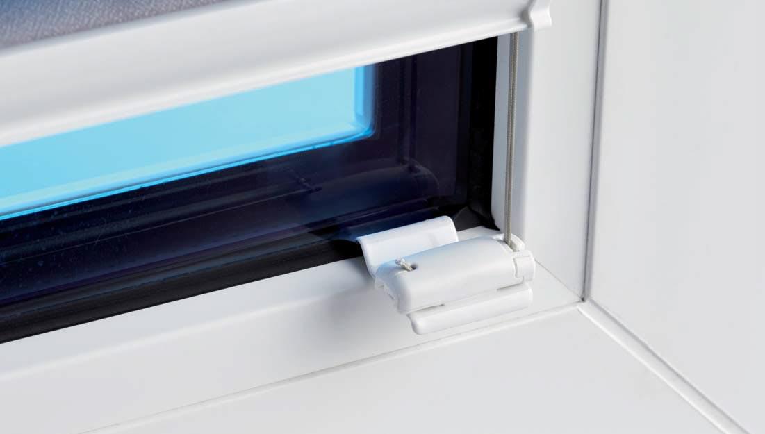 Plissee Faltstore und Glasleistenclip im Einsatz